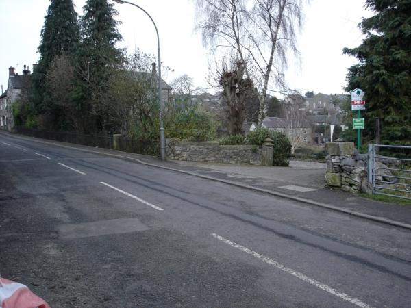 Photo of driveway to plot