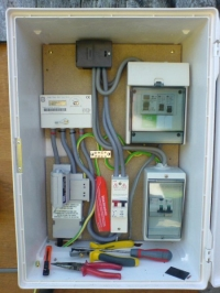 Photo of temporary electricity meter box