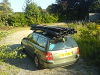 Photo of Passat with ducting on roof