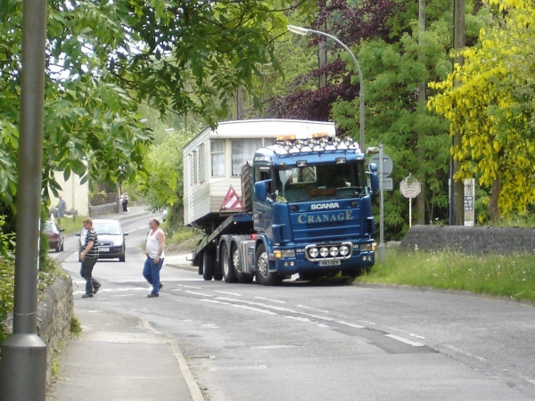Photo of Cranage Haulage truck parked up near our plot.